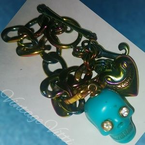 Juicy Couture Jewelry - Juicy Couture Rainbow Bracelet + Blue Skull Charm